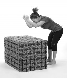 person pounding fits