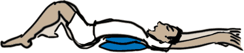 illustration of person lean over stack of pillows